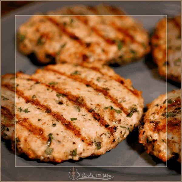 Μπιφτέκια Κοτόπουλο Φούρνου
