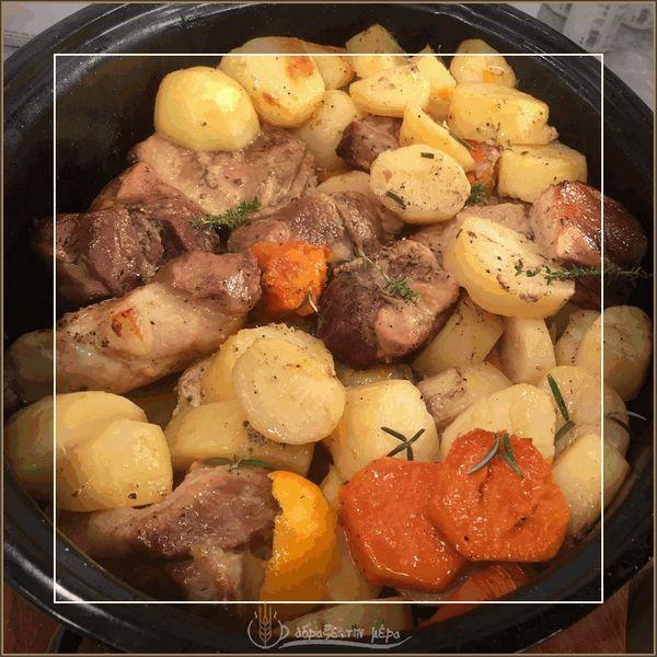 Χοιρινό Λεμονάτο με Πατάτες στο Φούρνο