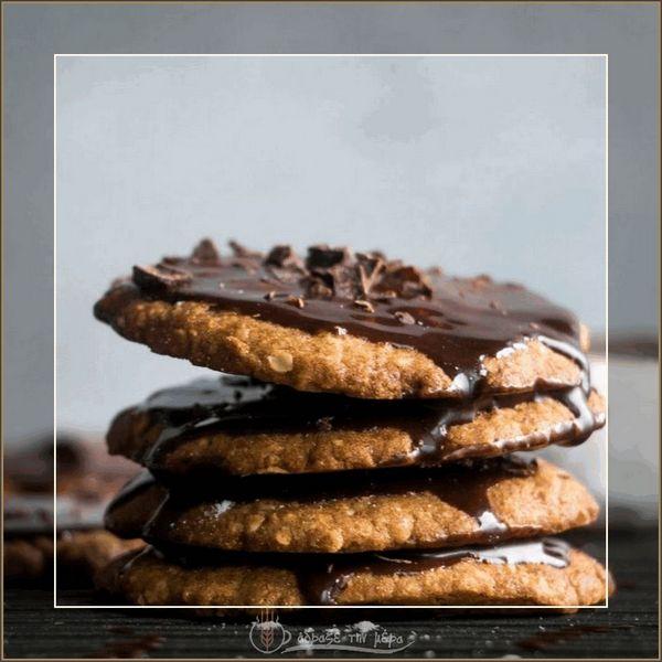 Μπισκότα Βανίλιας Με Επικάλυψη Σοκολάτας